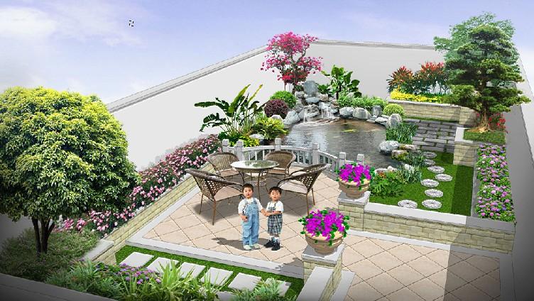 私家别墅花园设计图