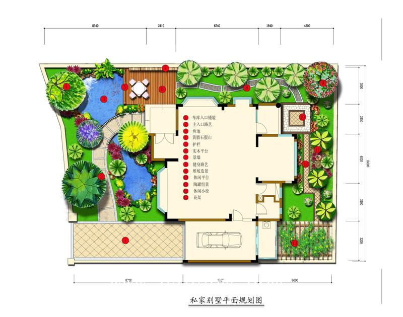 别墅花园设计平面图 -广州春木园林公司