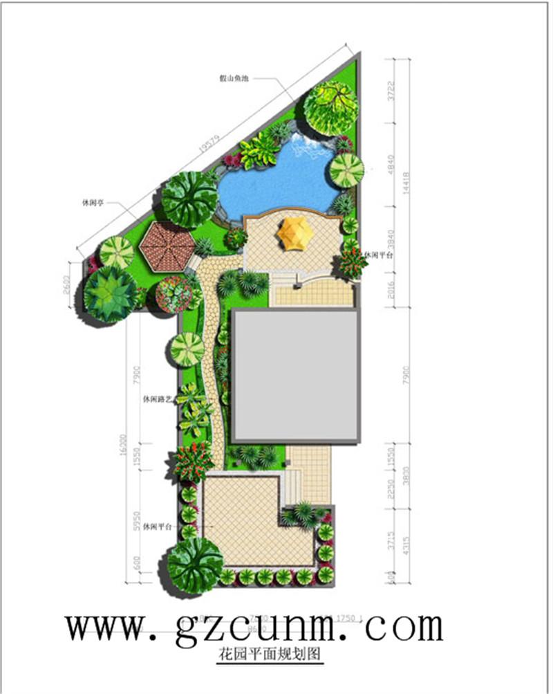 御溪谷别墅景观设计平面图
