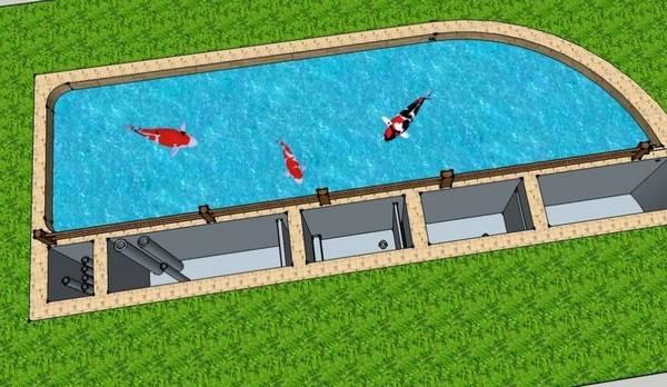 鱼池过滤系统设计图图片