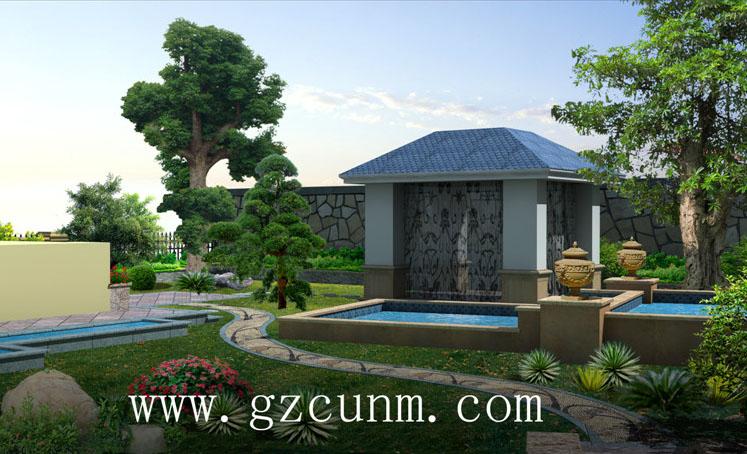 案例名称:庭院鱼池设计图                     案例编号:151648-262
