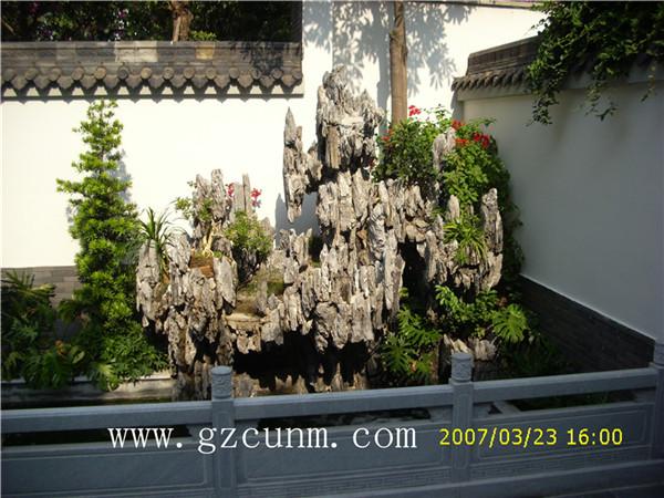 中式别墅庭院设计案例图片