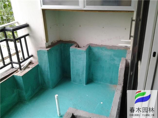 广州阳台鱼池正在施工中