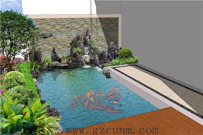 别墅小花园设计效果图 - 广州春木园林公司