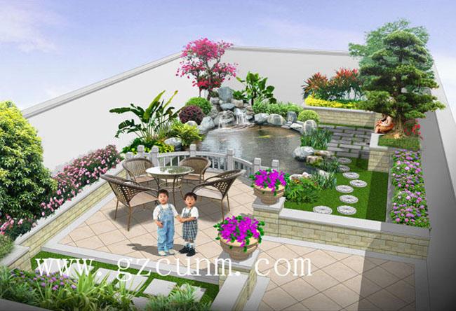 别墅后花园设计效果图