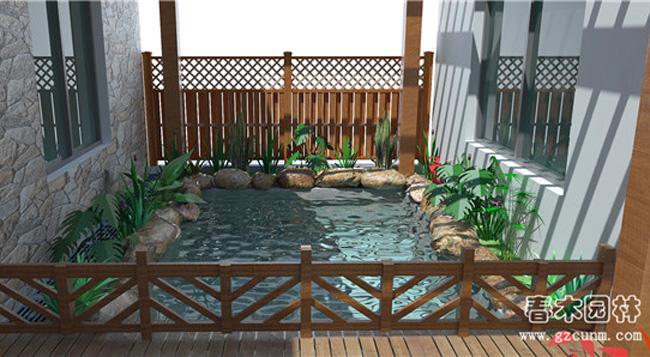 家庭院子鱼池设计图