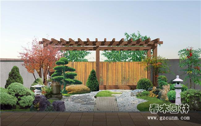 日式小庭院景观设计案例 - 广州春木园林公司