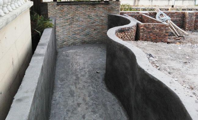 广州花都区别墅别墅鱼池建造中水压庭院层三图片