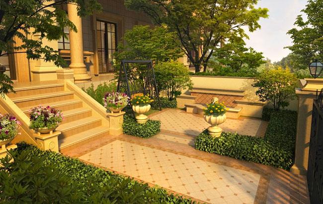 别墅庭院园林绿化设计怎样协调?