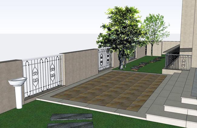 私家小庭院景观设计图