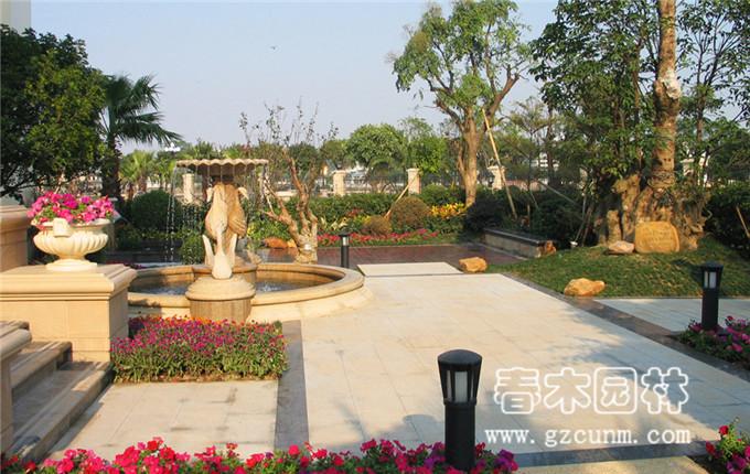 园林景观效果  景观水池效果图-家庭水池景观造型_小型水池假山效果图