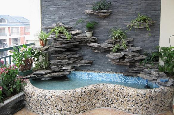 阳台小鱼池设计与施工案例
