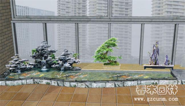 阳台鱼池设计图 - 广州春木园林公司