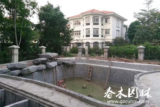 庭院假山鱼池设计与制作